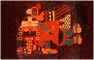 Cloth weaving was highly developed among pre-Columbian cultures such as the Paracas of Chile, which flourished 300-100 B.C.