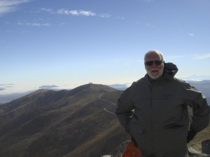 Wayne Clough on the the site of the yet-to-be-built Giant Magellan Telescope.