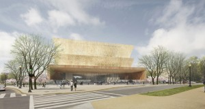 The design concept for the new National Museum of African American History and Culture submitted by Freelon Adjaye Bond/SmithGroup.