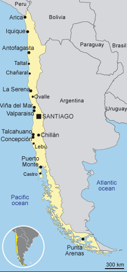 Chile's coastline is almost 4,000 miles long.