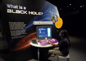 """The new exhibition """"Black Holes: Space Warps & Time Shifts"""" takes visitors on a journey to the heart of darkness. (Photo by Christine Pulliam)"""