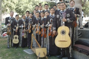 "Mariachi Chula Vista, formed by student musicians at Chula Vista High School near San Diego, Calif., participates in mariachi festivals such as ""Viva el Mariachi,"" held annually in Fresno, Calif. (Photo by Daniel Sheehy)"