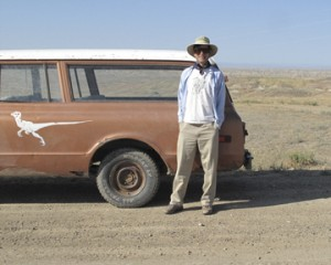 Scott Wing and his 1970 Chevy Suburban, Dino. (Photo by Wayne Clough)
