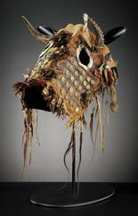"""This Siksika (Blackfoot) horse head covering, ca. 1845, is among the objects on display in """"A Song for the Horse Nation,"""" opening next month at the Heye Center."""