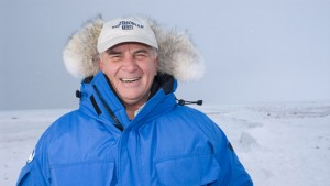 Don Moore in the Arctic, where he observed polar bears.