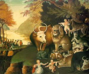 """""""A Peaceable Kingdom"""" by Edward Hicks was among the paintings sold by the Maier Museum of Art at Randolph College in 2007."""