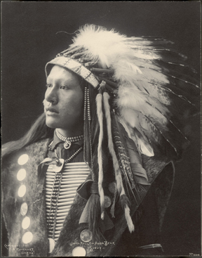 John Hollow Horn Bear (Sioux), 1898 (P09868). Photographed by Frank A. Rinehart and Adolph F. Muhr. National Museum of the American Indian Archive Center.