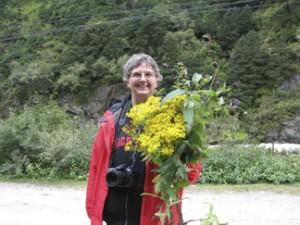 Vicki Funk in Tibet (Photo by Debbie Bell)