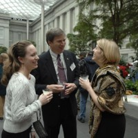 From left, Kemble Dycus, assistant to the Secretary; Cristián Samper, Natural History director; and Catherine Beliveau, special assistant to the Secretary.