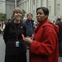 Farleigh Earhart, assistant general counsel and Kimm Richards, management analyst in the Office of the Inspector General.