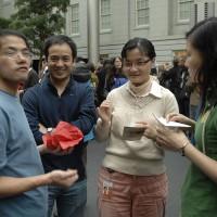 From left, Fellows Rong Li, Xin Wei Xu, Quing Liu and Pingting Chen.
