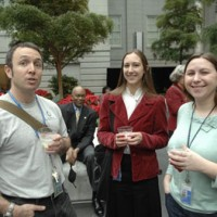 Jeff Meade, school tours coordinator for the National Postal Museum; Emily Guth, records manager for the American Art Museum and Jenni Lee, assistant for exhibitions and loans at SAAM.