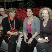 From left, Douglas Dunlop, metadata librarian; Ninette Axelson-Dean, management support specialist; Suzanne Pilsk, librarian; and Diane Shaw, rare book cataloguer, all of Smithsonian Institution Libraries.