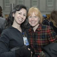 Nora Lockshin, paper conservator with SI Archives, and Liza Kirwin, the curator of manuscripts for the Archives of American Art.