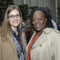 The Anacostia Community Museum's Development Officer Joanna Leese, and Visual Information Specialist Pearline Waldrop.