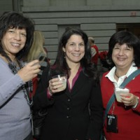 Project Manager Isabel Myers, Program Manager Maria Delsasi, and Sylvia Kendra, program manager of the Office of Facilities, Engineering and Operations-Office of Engineering, Design and Construction, Geospacial Engineering.