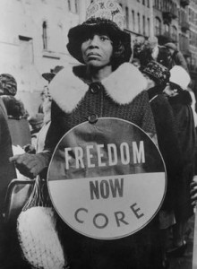 Taken in Harlem, N.Y., in 1965, this image shows a woman supporting the Selma, Ala., civil rights march to the state capital in Montgomery. The march led to one of Martin Luther King, Jr.'s most famous speeches which he delivered in front of 20,000 supporters. (Photo courtesy of the Smithsonian Photography Inititative and the Center fro Folklife and Cultural Heritage.)