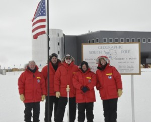 The National Science Foundation team at the South Pole.