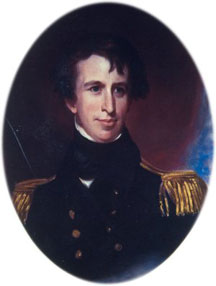Portrait of Captain Charles Wilkes circa 1843 by Thomas Sully.