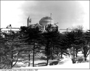 The National Museum of Natural History under construction in 1909.