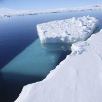 floating blocks of ice
