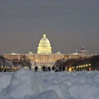 snow on national mall