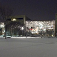National Air and Space Museum in snow