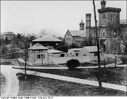 Buildings in the South Yard behind the Smithsonian Institution Building