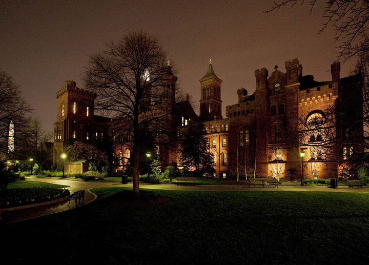 The Castle at 8:29 p.m. On March 27 (Photo by Eric Long)