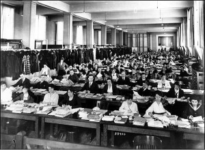 World War I closed the National Museum of Natural History in 1918. Space was needed for 3,000 clerks from the Bureau of War Risk Insurance. The museum reopened in less than a year.