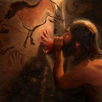 Illustration of cave paintings
