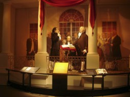 A representation of George Washington's presidential inauguration. (Photo courtesy of the Heinz History Center)