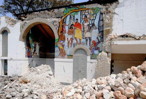 Interior view of the Episcopal Cathedral Sainte-Trinite in Port-au-Prince, Haiti, destroyed in the January 12 earthquake. (Photo courtesy France 24)