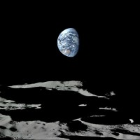 Earth Over the Moon's South Pole