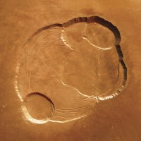 The Summit of Olympus Mons on Mars