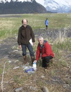 Unfortunately, plastic debris is ubiquitous, even in this remote spot. (Photo by Wayne Clough)
