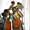 Cellist in Haiti
