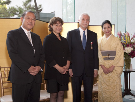 Ichiro Fujisaki; Kim Sammis (Mrs. James Ulak); James Ulak; and Yoriko Fujisaki, wife of the Ambassador of Japan. (Photo by John Tsantes)
