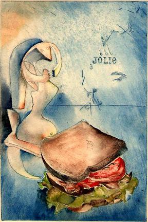 """Jolie: P.P. and B.L.T."" (version 4) by Joseph Goldyne. 1974."