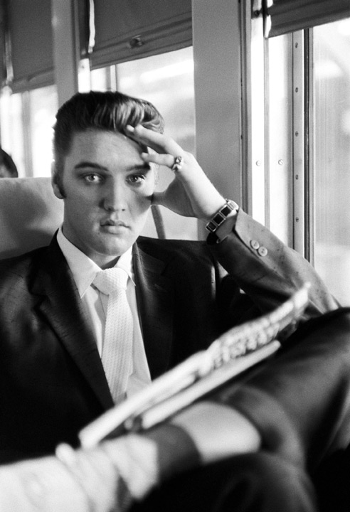 Going Home. Elvis on the Southern Railroad between Chattanooga and Memphis, Tenn. July 4, 1956. © Alfred Wertheimer. All rights reserved.