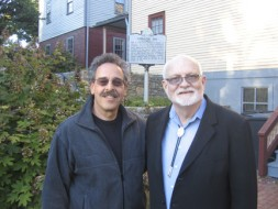 Smithsonian Affiliations Director Harold Closter, left, and International Storytelling Center President Jimmy Neil Smith.