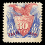 Shield, Eagle and Flags stamp