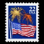 flag and fireworks exhibit