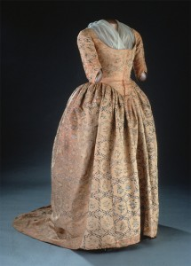 Martha Washington's dress from the early 1780s is made from silk taffeta woven and painted in China.