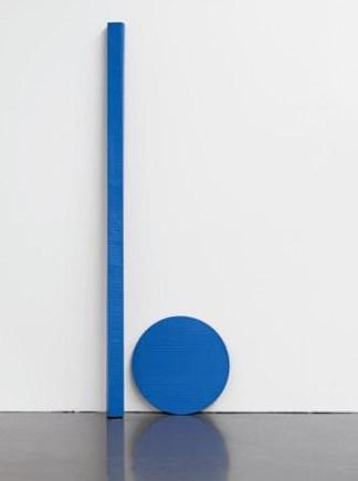 Blinky Palermo, Blaue Scheibe und Stab (Blue Disk and Staff), 1968, private collection, courtesy Hauser & Wirth