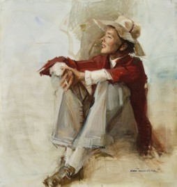 This portrait (1982) by her friend Everett Raymond Kinstler was said to be Hepburn's favorite.