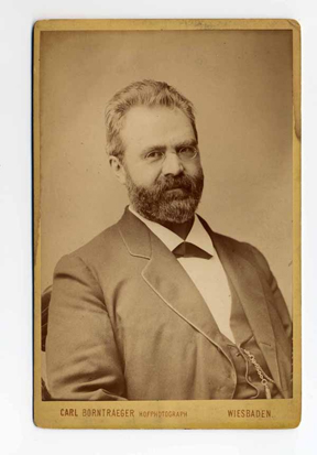 William Steinway, 1882. Photograph by Carl Borntraeger, Wiesbaden, Germany, courtesy of Henry Z. Steinway Archive