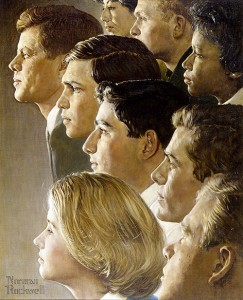 The Peace Corps (J.F.K.'s Bold Legacy) ©Licensed by Norman Rockwell Licensing Company, Niles, IL