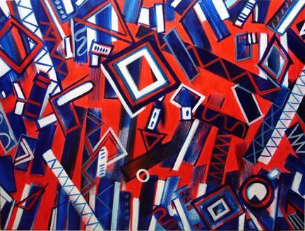 """""""Rhythm in Blues"""" by Lynda Lehmann"""