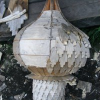 Domes are constructed using layers of ashwood shingles.